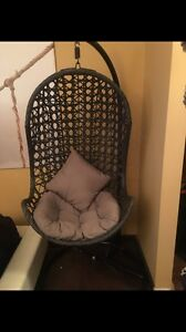 Hanging wicker chair or accent chair