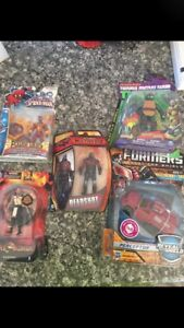 Various action figures new in box