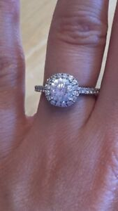Stunning Blossom Cut Halo Engagement Ring
