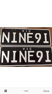 PORSCHE 911 vic number plates registration