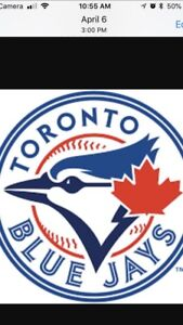 BLUEJAYS UPPER BOWL ROW 1 TICKETS FOUR IN A ROW
