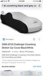 Challenger satin stretch fitted cover