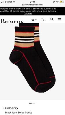 Mens Burberry london Icon socks New With Tags. Large Black RRP £55