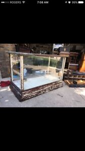 Small Antique Store Display Cabinet