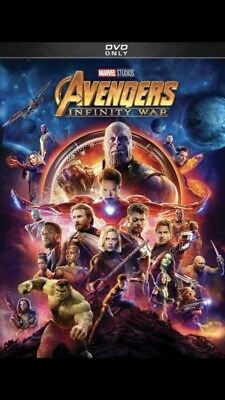 Avengers: Infinity War (DVD,2018) Action, Adventure* PREORDER SHIPS In Aug