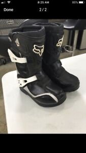 Youth Fox Motocross Boots Size 11