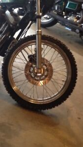 """23"""" sportster front wheel with enduro rubber"""
