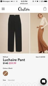 Looking for Aritzia Luchaire pant in 0 or 00 (black)