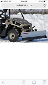 "Brand new in the box 72"" SNOWSPORT UTV plow"