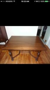 Beautiful Antique Hardwood Dinning Room Set - Best Offer