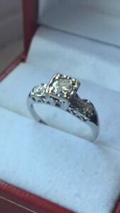 Vintage 14K Gold Diamond Ring - Appraised April 2019