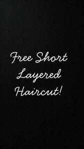Free short layered haircut!