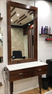 HAIRDRESSING WORK BENCH AND MIRROR x 2 Bexley North Rockdale Area Preview