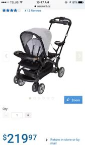 Baby trend sit and stand stroller AND car seat with base