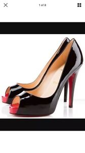 Christian louboutin very prive 120 black patent with red size 38 South Yarra Stonnington Area Preview