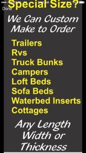 RV, Boat, Camper -  Hard to find sizes of Mattresses Available
