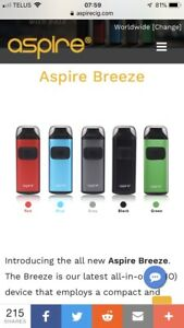 Aspire breeze all in one vaporizer