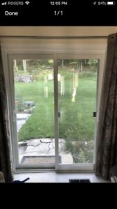 "Sliding patio door, 5ft wide, 80""high"