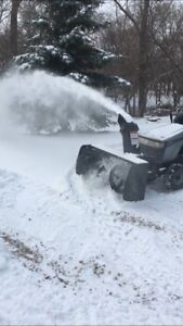 Snowblower and tractor