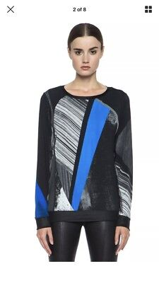 - HELMUT LANG Fracture Print Jersey Sweatshirt Top Size Small S