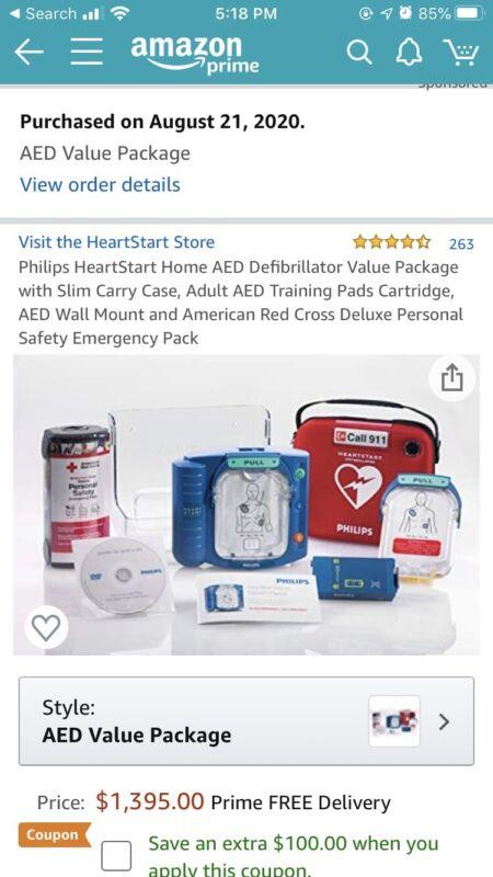 Philips HeartStart Onsite AED Defibrillator Value Package