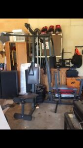 Complete work out station.