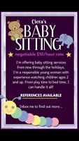 Babysitting in Cole harbour, Dartmouth or Halifax!
