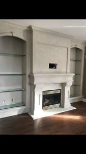 * fireplace mantels stone surrounds