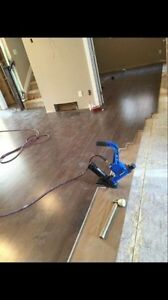 Hardwood, laminated, engineers, vinyl flooring installing  Strathcona County Edmonton Area image 6