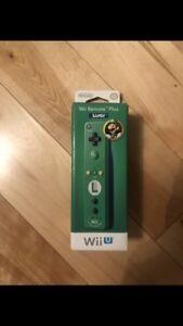 NEUF/NEW Nintendo Wii u /Wii  remote plus LUIGI EDITION