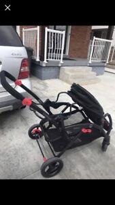 Contour tandem double stroller