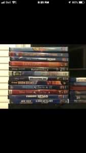 Lot of 18 bluray/blue ray DVDs - nemo/cars/rio
