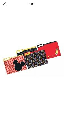 New Disney Mickey Mouse School Work Home File Folders 9 X 11.5 1 Package Of 4