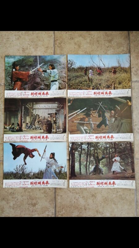 FLYING SWALLOW Original 12 Lobby cards 1978 Martial Arts Movie  NEW w/bonus
