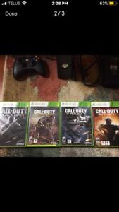 Xbox 360, 4 COD games and two controllers