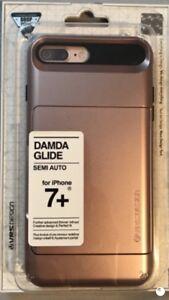 iPhone 7+ case (Damda Glide Semi Auto) also works for 8+