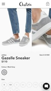 Adidas gazelle sneaker size 7 (fits like a 7.5)  GOOD AS NEW