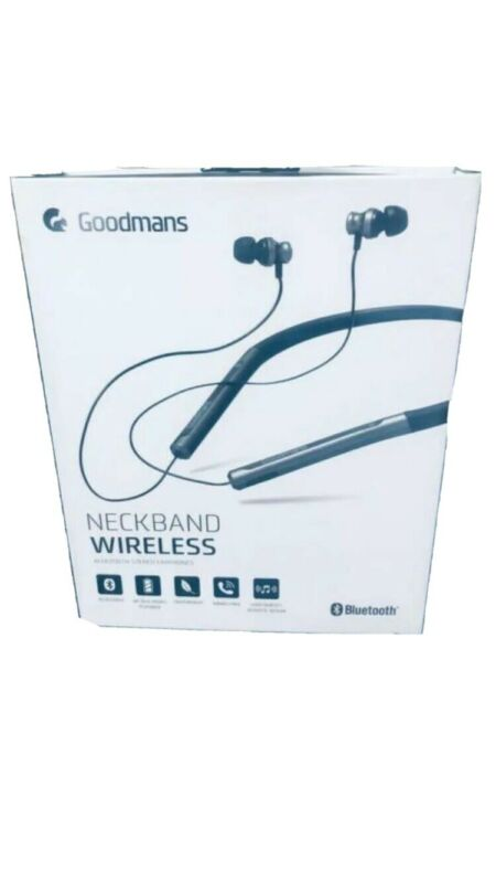 Official+Goodmans+Neckband+Wireless+BLuetooth+Earphones+NEW+%26+SEALED+UK