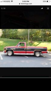 Wanted 1973to 1987 gmc or Chevrolet pickup truck