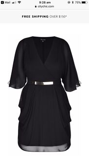 Wanted: WANTED CITY CHIC BLACK WRAP DRESS- XS or S REASONABLE PRICE ONLY