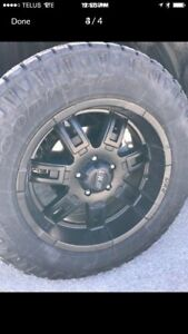 Tire and rim package for a Dodge Ram