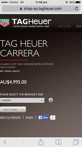 TAG HEUER CARRERA East Perth Perth City Area Preview