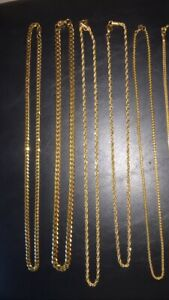 Gold Plated Chains and Bracelets
