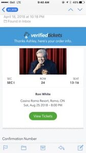 4 Tickets Ron White Casino Rama Aug 25th - Sold out show