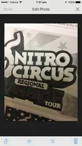 Nitro Circus VIP Tickets (x2) Sunshine Coast 6th May 2017 St George Balonne Area Preview