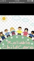 (RELIABLE CHILDCARE AVAILABLE )
