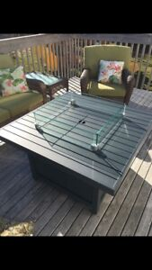 Beautiful Napoleon Brand fire table with all accessories!