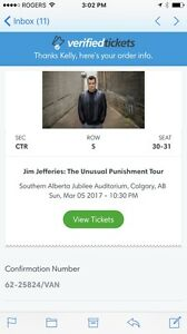 Jim Jefferies Tickets BELLOW FACE VALUE March 5 at 10:30pm