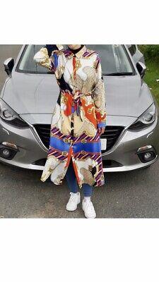 Chain Print Designer/Versace Inspired Shirt Dress 8