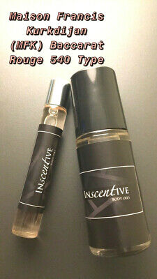 MFK Baccarat Rouge 540 Type (Unisex)- Fragrance and Body Oil Roll-on- 1/3oz, 1oz